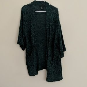 forever 21 3/4 sleeve open front cardigan
